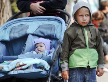Лагерь для украинских беженцев в поселке Красный десант Ростовской области