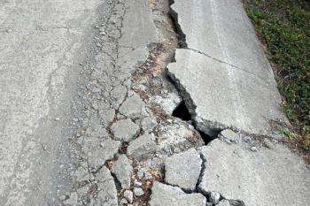 Heavily Damaged Road