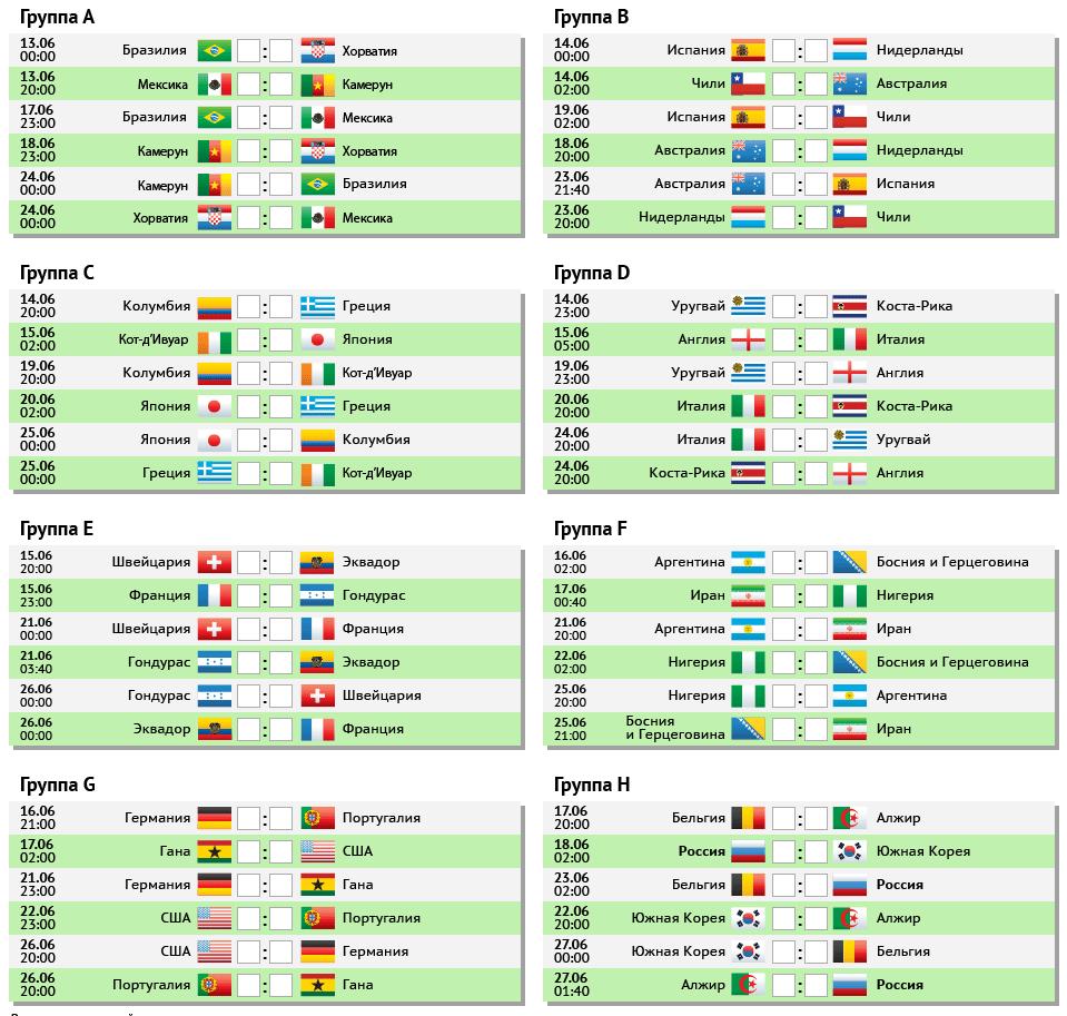 2018 на чемпионат игр по мира расписание футболу