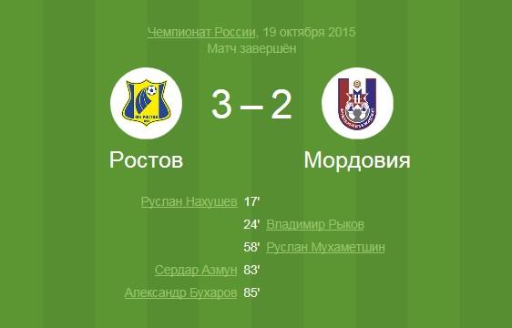 Матч проходил на стадионе'Олимп-2 в Ростове-на-Дону