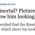 The Telegraph заподозрила Владимира Путина в бессмертии