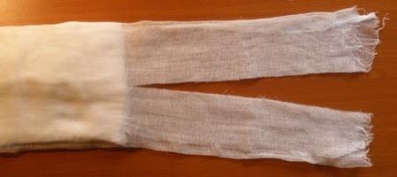 Марлевая повязка для школы как сделать