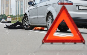24608695-Road-accident-Knock-down-pedestrian-and-upset-driver-in-front--Stock-Photo