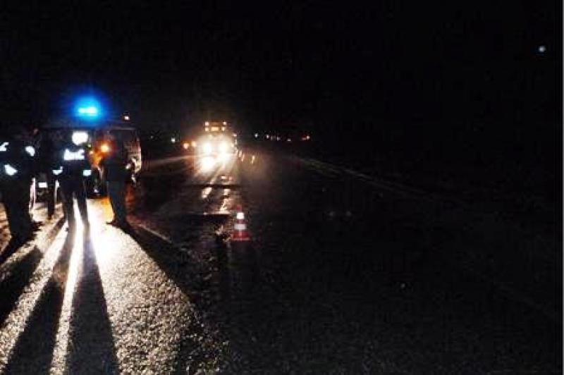 Легковушка сбила двоих человек, чинивших мотоцикл надонской трассе