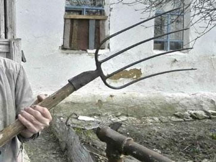 ВРостовской области мужчина заколол вилами своего отца-пенсионера