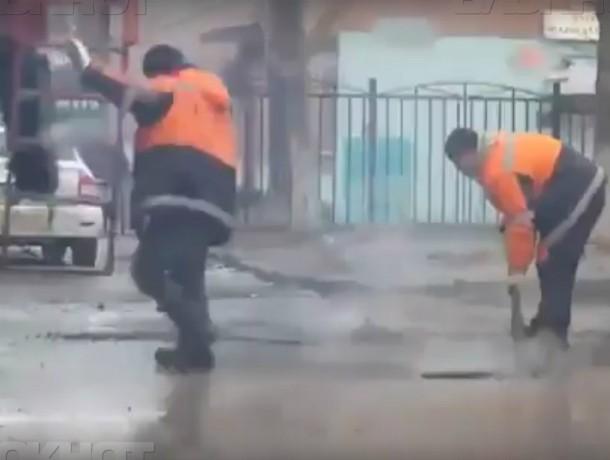 ВРостове заукладку асфальта влужи наказали дорожников