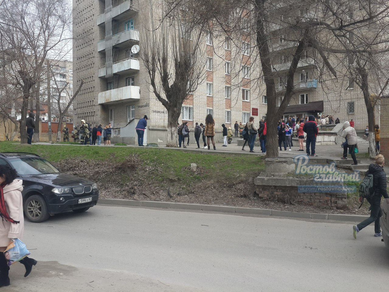 Короткое замыкание случилось вобщежитии вцентре Ростова