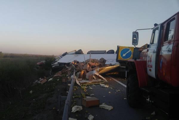 Три фургона столкнулись натрассе М-4 «Дон», один погибший