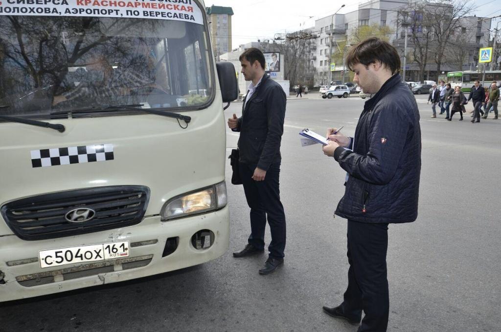 74 маршрутки проверили инспекторы ГИБДД иорганы власти вРостове