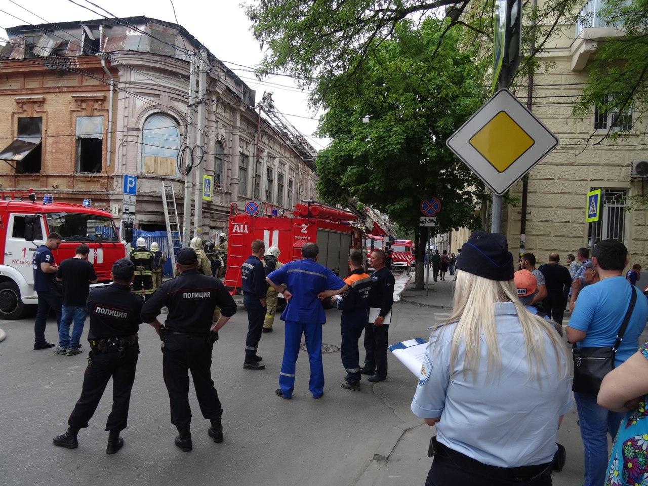 Масштабный пожар вРостове-на-Дону тушили неменее 40 человек