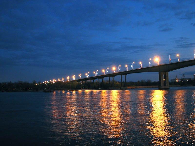 ВРостове трое молодых людей прыгнули сВорошиловского моста вДон