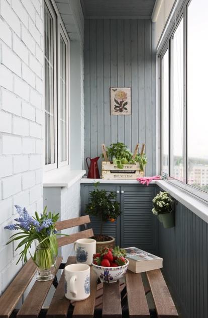 Примеры использования балкона для помещений различного назна.