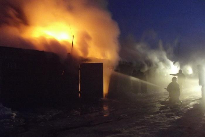ВРостовской области вночном пожаре погибли отец исын