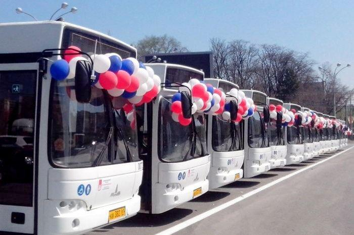 Из-за презентации новых автобусов вРостове закроют движение наТеатральной площади