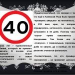 Почему не принято отмечать 40 лет